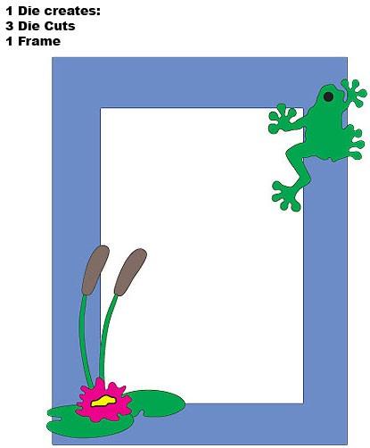 DD Rahmen mit Frosch / frog pond FRM112