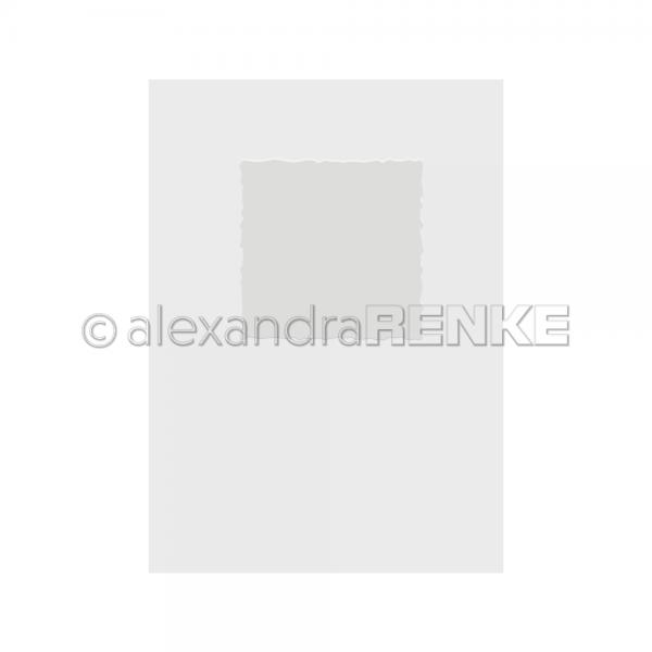 Alexandra Renke Prägefolder / Embossingfolder Büttenrand Quadrat KbEF-AR-Ra0001
