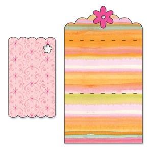 Sizzix Stanzform BIGZ Karte gewellt mit Blumen / card scallop w/flowers 655827