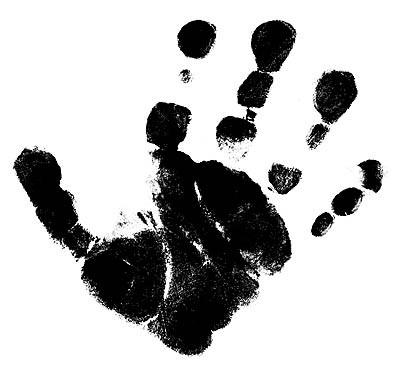 Stempel Hand rechts groß 1827714