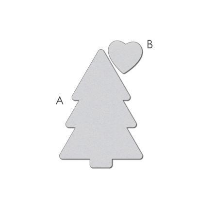 WPlus9Design Stanzform Baum u.Herz/Pretty Patches Tree WP9D-034