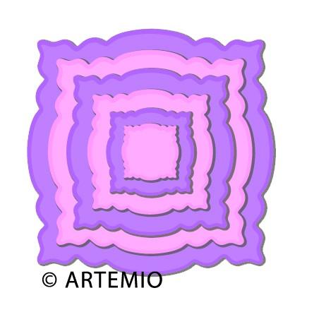 Artemio Happycut Stanz-u.Prägeformen Quadrat gewellt 18043002