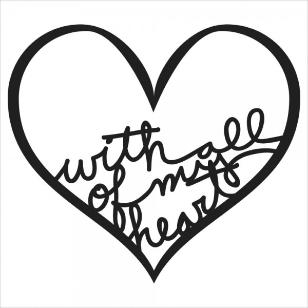 """Crafter' s Workshop Stencil Herz """" with all of my heart """" TCWBB-2029"""