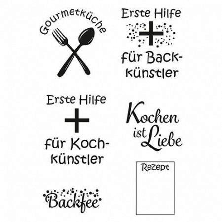 Efco Clear Stempel-Set Kochkünstler 4511186