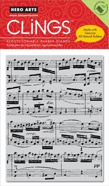 Hero Arts Cling Stempel Music background CG222