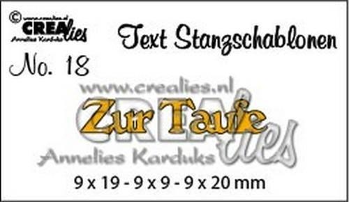 Crealies Stanzform Worte ' Zur Taufe ' CLTSS18