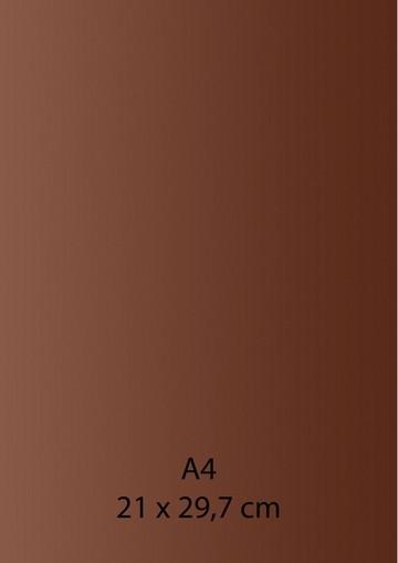 Pearl Papier A 4 DUNKEL-BRAUN mit Klebefolie 652000/1340