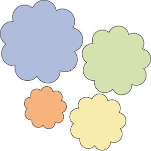 Cuttlebug Stanzform 4-er Set KLEIN Blumen # 1 / floral # 1 37-1206