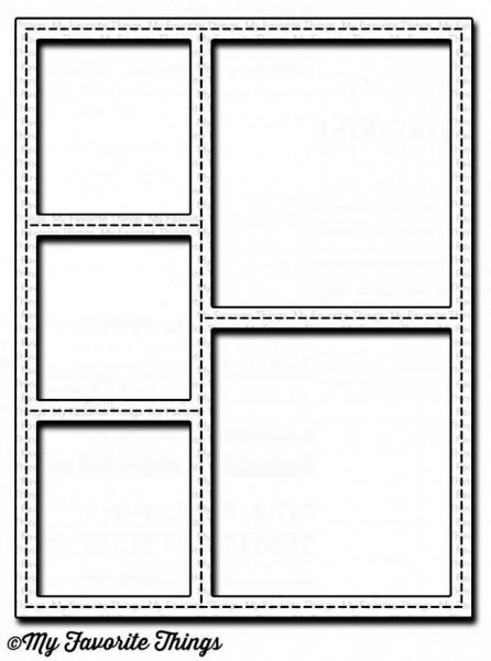 Dienamics Stanzform Rahmen mit Nähnaht / Stitched Collage Frame MFT-1164