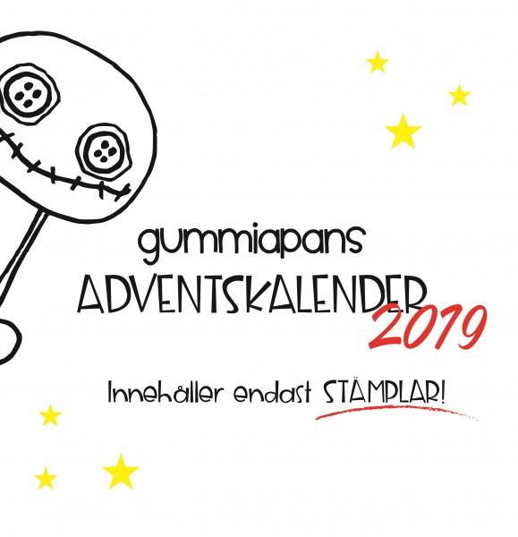 Gummiapan Adventskalender 2019 mit Stempelgummis STAMP_Calendar_2019