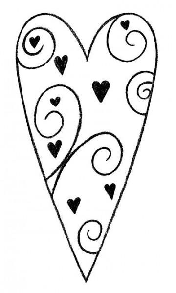 Stempel Herz romantisch 1827843