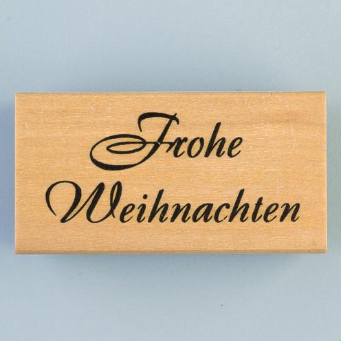"""Efco Holz-Stempel groß """" Frohe Weihnachten """" 4510682"""