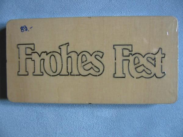 """Stanzform """" Frohes Fest """"groß EIGENDESIGN"""