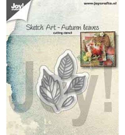 Joycrafts Stanzform Herbstblätter / Sketch Art - Autumn Leaves 6002/1356