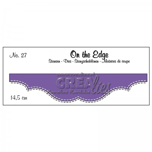 Crealies Stanzform On The Edge Doppelte Stichlinie / The Edge Nr. 27 CLOTE27