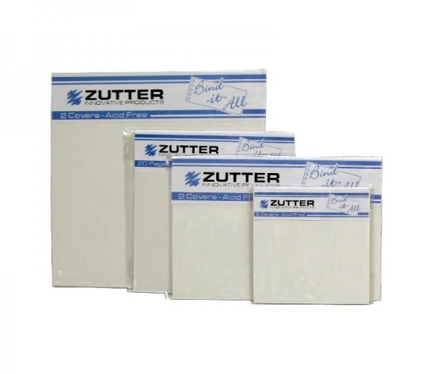 """Zutter Innen - Einteilungs-Papiere schwarz 8 """" x 8 """" = 20,3 cm x 20,3 cm 2743"""