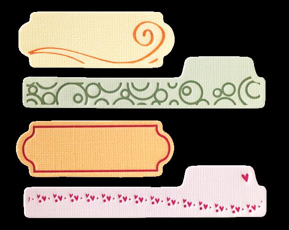 Fiskars Letterpress Platten-Set Mini Tags 0245 / 57-876-000