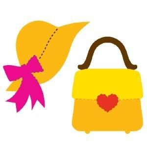 AccuCut Zip'e Slim Stanzform MEDIUM Sonnenhut & Handtasche / Sun Hat & Heart Clasp Handbag 41512