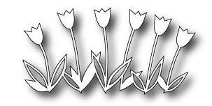 Poppystamps Stanzform Tulpen / Tulip Fanfare 1018