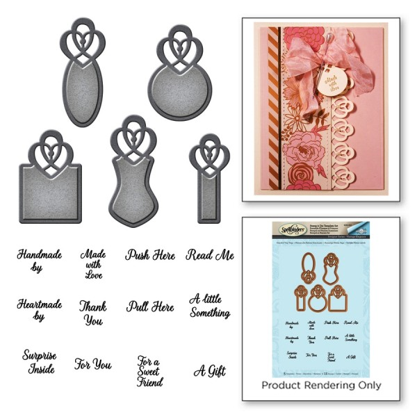 Spellbinders Stempel-u. Stanzform-Set Graceful Tiny Tags SDS-053