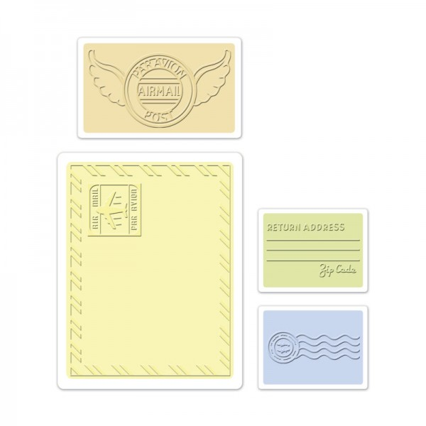 Sizzix Prägefolder-Set Mail-Set 657 668