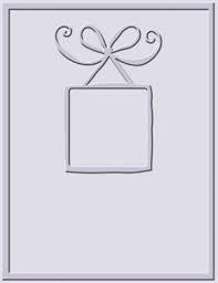 Cuttlebug Prägefolder Rahmenkarte mit Schleife / bow frame card 37-1230