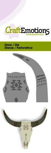 CraftEmotions Stanzform Schädel mit Hörner mexikanischer Stier / Skull mexican Style - bull 115633/0