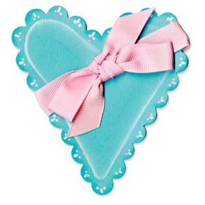 Sizzix Stanzform BIGZ Herz gewellt / heart scallop 655919