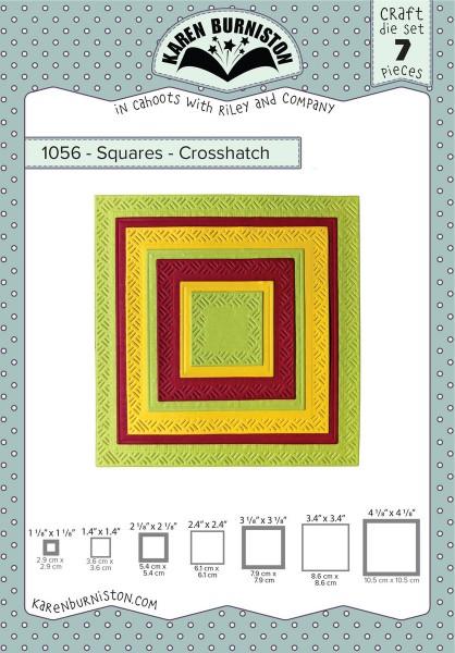 Karen Burniston Stanzform Quadrate mit Schraffur / Squares - Crosshatch 1056