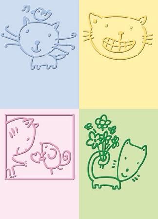 Cuttlebug Prägefolder-Set Katze / cat 37-1236