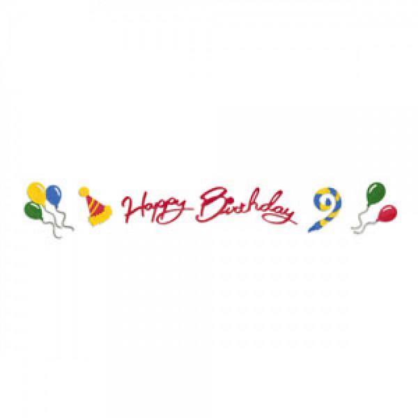 Sizzix Stanzform Sizzlits Border Happy Birthday u. Zubehör 654469