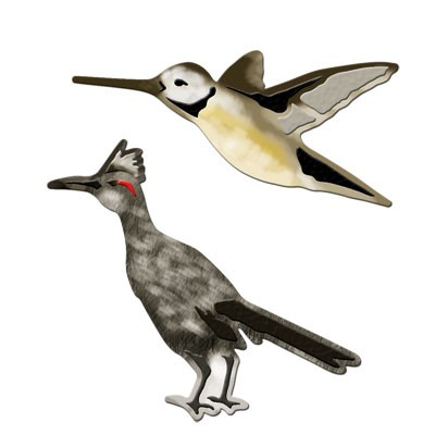 Spellbinders Stanzform Vögel / birds runner & humming S3-135