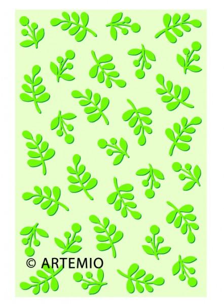 Artemio Happycut Metall-Prägeschablone 10 x 15 cm Blätter 18040001