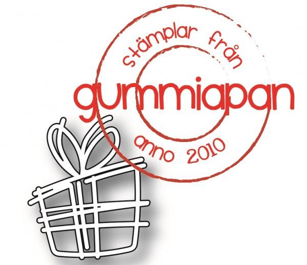 Gummiapan Stanzform Geschenk-Päckchen / Doodlat Paket D190342