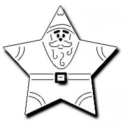 Frantic Stampers Stanzform Stern Nikolaus / Star Santa FRA-DIE-10053