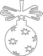 Savvystamps Stanzform Weihnachtskugel hängend / Ornament 10038