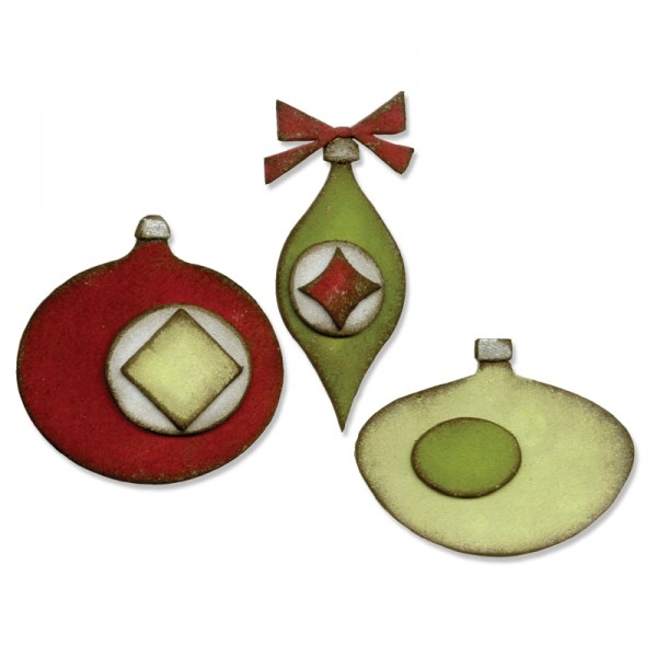 Sizzix Stanzform BIGZ Weihnachtskugeln/Retro Ornaments 660036