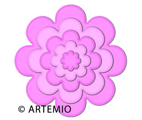 Artemio Happycut Stanz-u.Prägeformen Blumen rund 18043011