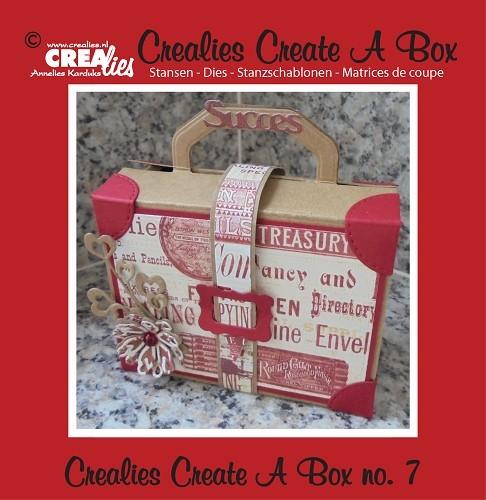 Crealies Stanzform Create A Box Nr. 7 Koffer CCAB07