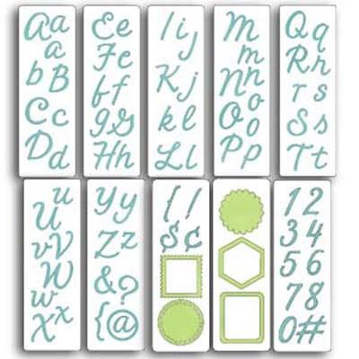 Cuttlebug Alphabet Harmony 115639/6076 (37-1056 )