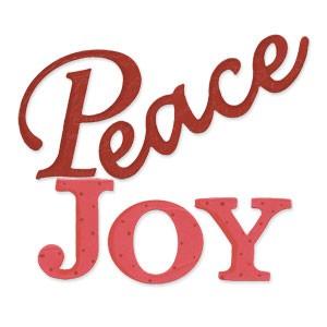 "Sizzix Stanzform BIGZ Worte "" Peace JOY "" / phrase Peace & Joy 656277"