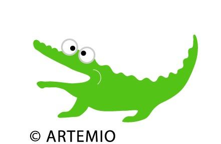 Artemio Happycut Stanzform 5,2 x 7,2 cm Krokodil / crocodile 18021004