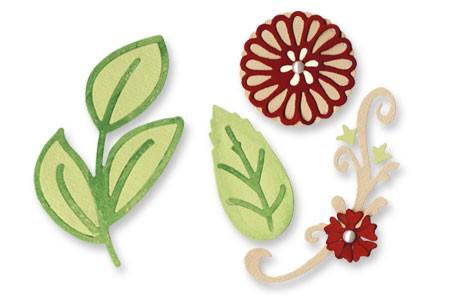 Sizzix Stanzform Sizzlits MEDIUM 3-er Floral Botanical Set 657095