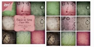 Joy!Crafts Papierblock BACK IN TIME 15x15 cm 6011/0020 (grün/pur