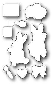 Memorybox Stanzform Geburtstags-Hasen / Birthday Bunnies 32170