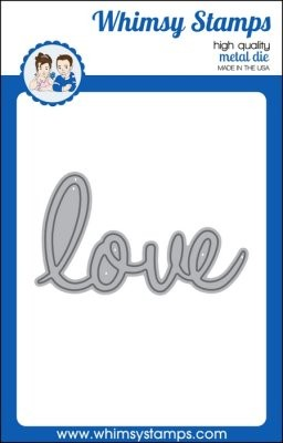 Whimsy Stamps Stanzform ' love ' / Love Large Word WSD322s