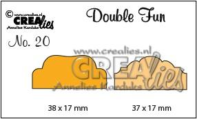 Crealies Stanzform Double Fun Tabs 2 CLDF20