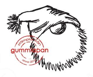 Gummiapan Stempelgummi Nikolauskopf mit Mütze KLEIN / Liten Trolltomte 13100803