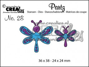 Crealies Partz Nr.28 Libelle CLPartz28