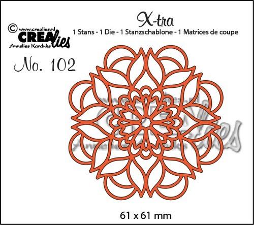 Crealies Stanzform X-tra Nr.102 Mandala B CLXTRA102
